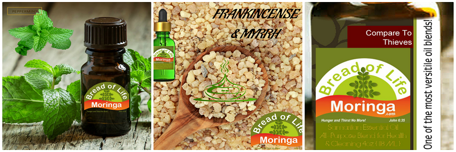 Frankincense & Myrrh Essential Oil Therapeutic Grade Peppermint Essential Oil