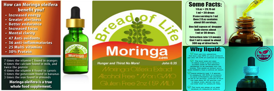 Moringa Liquid Extract - Alcohol FREE from Bread of Life Moringa